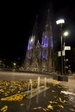 St Catharina Cathedral. In the night, Eindhoven, Holland Royalty Free Stock Photo