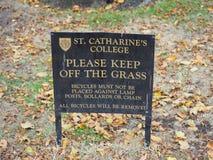 St Catharine Universiteit in Cambridge royalty-vrije stock fotografie