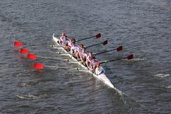 St Catharines划船俱乐部在Cha题头赛跑  免版税图库摄影