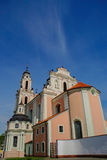 St. Catherine's Church. Beautiful pink Church, Vilnius, Lithuania Royalty Free Stock Photo