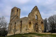 St Catherine's Klooster in dorp Dechtice Royalty-vrije Stock Afbeelding