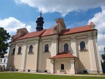 St Catherine av den Alexandria kyrkan, ‡ för ZamoÅ› Ä, Polen royaltyfria foton