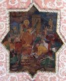St Catherine bespreekt met filosofen royalty-vrije stock foto