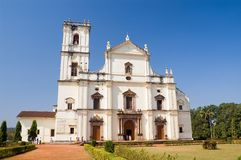 St.Catherine Cathedral. Was built in 1652, Old Goa city, state Goa, India Stock Photo