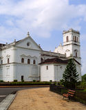 St.Catherine Cathedral catholic church in Old Goa. Royalty Free Stock Images