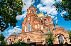 St. Catherine Cathedral in Krasnodar, Russia stock photos