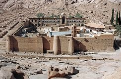 St. catherine egypt. The holy copt monastery of saint catherine in the sinai desert in egypt royalty free stock photos