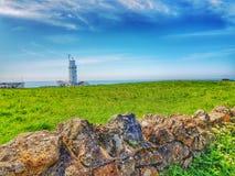 St Catherine& x27; isola di Niton del faro di s del Wight Fotografie Stock