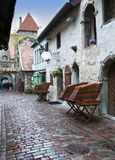 St. Catherine Passage - a little walkway in the old city Tallinn, Estonia. Royalty Free Stock Photography