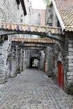 St Catherine Passage - un piccolo passaggio pedonale nella vecchia città Tallinn, Estonia fotografia stock
