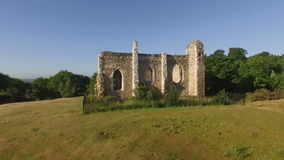 St Catherine's chapel, Guildford stock footage