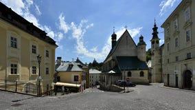 St. Catherine`s Church, Banska Stiavnica, Slovakia, UNESCO royalty free stock image