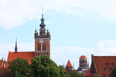 St. Catherine's Church in Gdansk, Poland Royalty Free Stock Photo