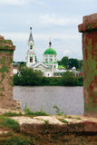 St. Catherine's Convent. On the banks of the Volga River in Tver Royalty Free Stock Images