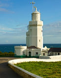St. Catherine's lighthouse, Isle of Wight stock images
