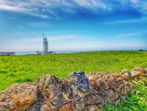 St Catherine& x27;s lighthouse Niton isle of Wight stock photos