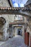St Catherine ` s Passage in de Oude stad van Tallinn, Estland royalty-vrije stock foto