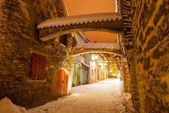 St. Catherine`s Passage - a small historic street in Tallinn, Estonia Stock Images
