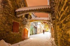 St. Catherine`s Passage - a small historic street Stock Photos