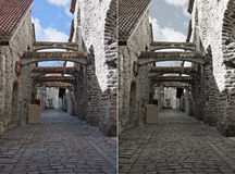 St. Catherine's Passage in Tallinn, Estonia royalty free stock photo