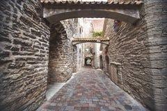 St. Catherine`s Passage in Tallinn, Estonia. Royalty Free Stock Images