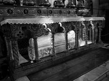St. Catherine. Of Siena burial place in Rome, Italy royalty free stock photography