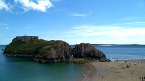 St Catherine& x27; isla de s, Tenby, Pembrokeshire, País de Gales del oeste del sur, Reino Unido Foto de archivo