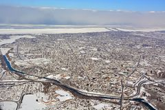 St Catherines  aerial, Winter Royalty Free Stock Images