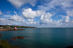 St Catherines Bay and Archirondel Tower Stock Photography