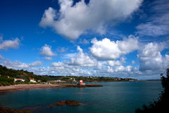 St Catherines Bay and Archirondel Tower Royalty Free Stock Photos