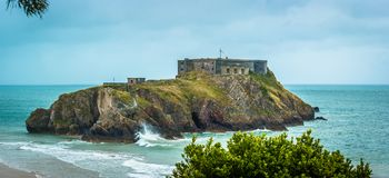 St Catherines Island. St Catherine`s Island and Fort, Tenby, Pembrokeshire, South Wales Royalty Free Stock Photos