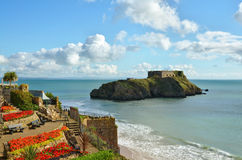 St Catherines Island, Tenby, on a summers day Stock Images