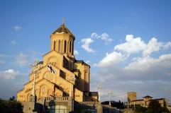 St Cattedrale della trinità di Tbilisi Fotografie Stock Libere da Diritti