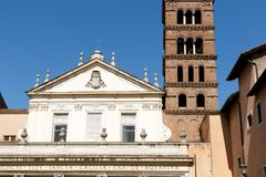 St. Cecilia`s in Rome, Italy Royalty Free Stock Image
