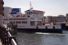 St Cecilia Wightlink Ferry. Wightlink Ferry at Portsmouth for car and foot passengers Royalty Free Stock Photo
