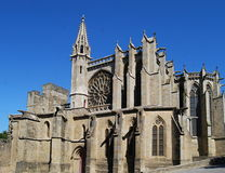 St. Celse Cathedral, Carcassonne Stock Image