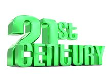 21st century metallic lettering. An illustration of a 21st century metallic lettering on a white  background Royalty Free Stock Photo