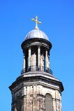St Chads Church Tower, Shrewsbury. View of St Chads church tower and dome with a gold cross on top, Shrewsbury, Shropshire, England, UK, Western Europe Stock Photography