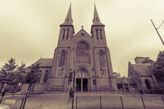 St Chads Katedralna Północna fasada Fotografia Stock