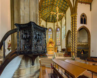 St Chads Katedralna Salowa ambona A Obrazy Royalty Free