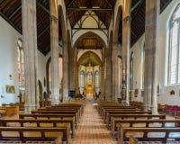 St Chads Katedralny Salowy Nave Obrazy Stock
