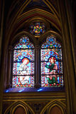 St chapelles stained glass. Detail of stained glass windows in st chapelle chatedral Royalty Free Stock Photography