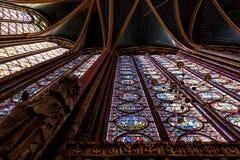 St Chappelle大教堂 库存图片