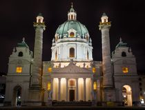 The St. Charles Cathedral in Vienna stock image