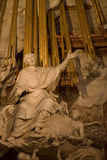 St. Charles Church-The altar. St. Charles Church in Vienna - The altar sculpture Royalty Free Stock Photos