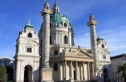 St Charles Church em Viena Fotos de Stock
