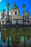 St Charles Church i Wien arkivfoton