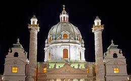 St. Charles church at night Royalty Free Stock Photography