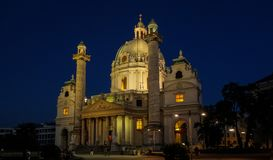 St Charles Church a Vienna fotografia stock libera da diritti