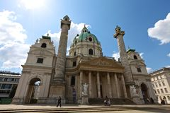 St Charles Church, Vienna Immagini Stock Libere da Diritti